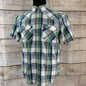 Patagonia men's button front short sleeve medium